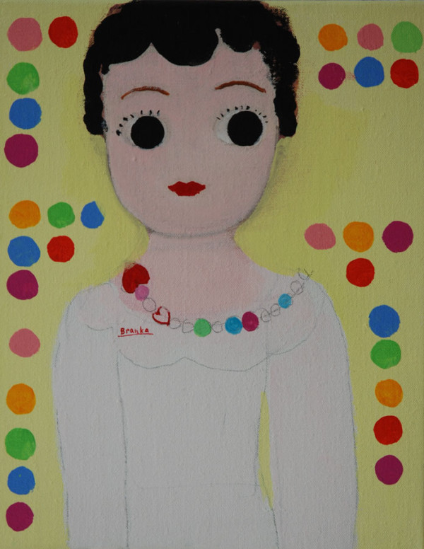 Betty Boop met ketting-Betty Boop with necklace 25x30 cm 2013