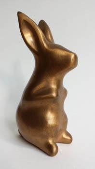 30-Konijn_Rabbit 17x6x7 cm brons 2006