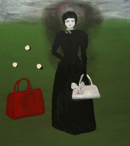 Vrouw en de wereld-Woman and the world 110x125 cm 2008