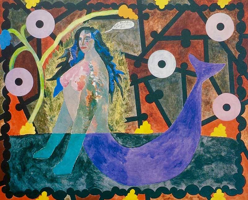 Mermaid acrylic on canvas-160x130 cm-1987 Coll. TwijnstraGudde
