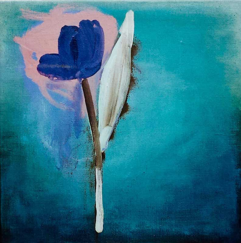 Tulip acrylic on canvas-40x40 cm-2005 Private Coll
