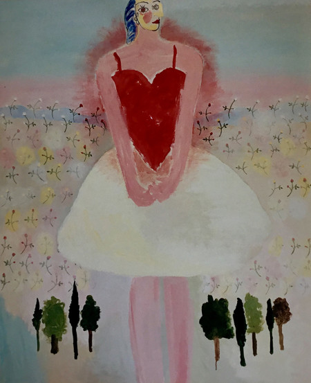 My heart is mine 110x130 cm 2000 Part. coll.