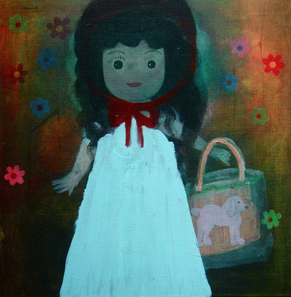 Betty Boop met tasje-Betty Boop with bag 50x50 cm 2005