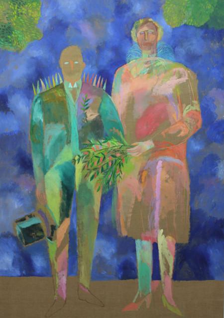 Bruidspaar-Bridal couple 120x170 cm 1982