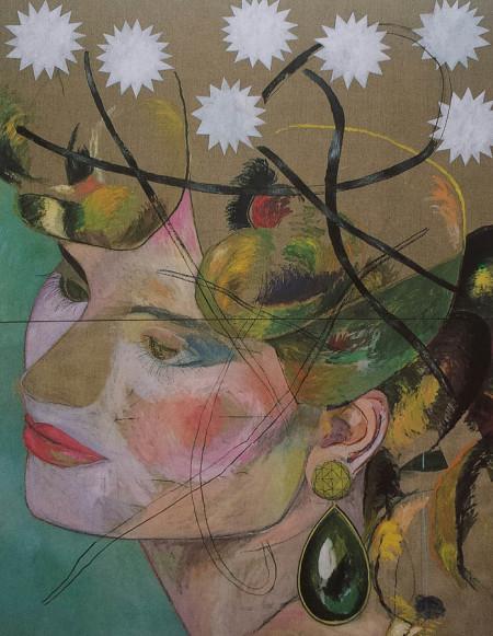 De oorbel-The earring 170x220 cm 1984 acryl op linnen Coll. Provincie Overijssel