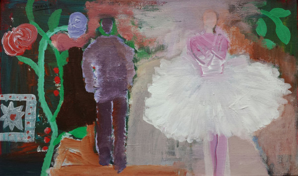 Dichter en ballerina-Poet and ballerina 60x25 cm 2004 Part. coll.