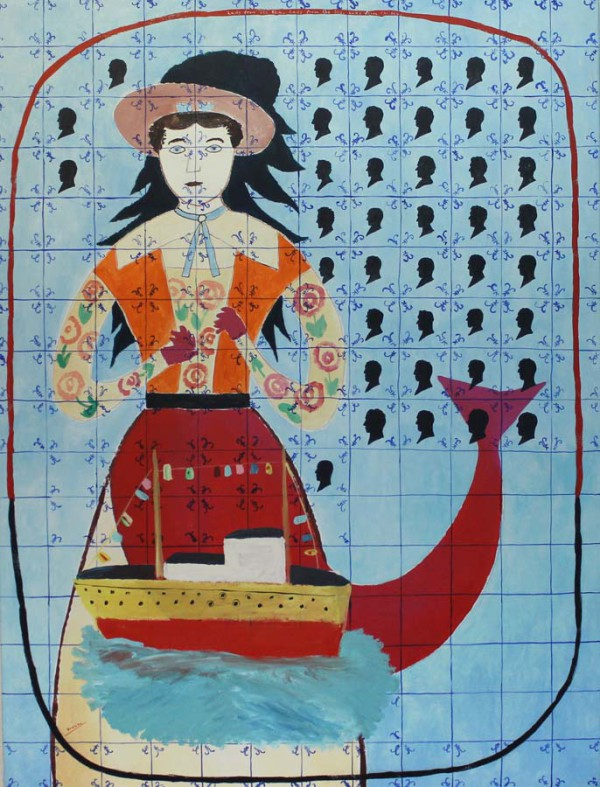 Lady from the sea 120x160 cm 1992