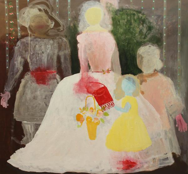 Olga Tatjana Maria en Anastasia 130x120 cm 2003