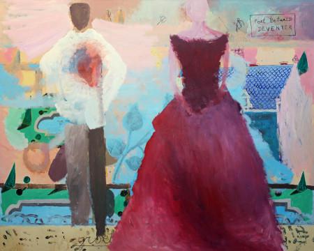 Scarlet dress 150x120 cm 2003