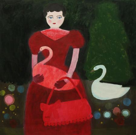 Scarlet dress 65x65 cm 2015