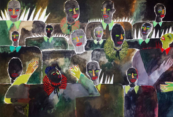 Zangkoor-Chorus 190x130 cm 1982
