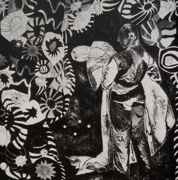 Couple with curtains acrylic on canvas-140x140 cm-1985 Coll. TwijnstraGudde