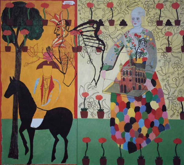 Doll and her Prince acrylic on canvas-160x130 cm-1990   Coll. TwijnstraGudde