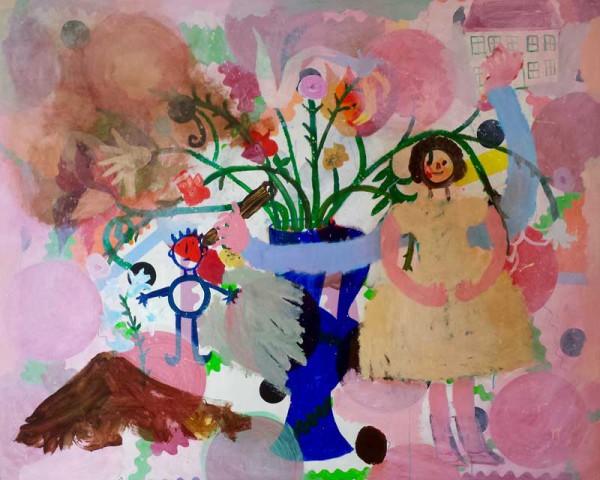 Memories acrylic on canvas-160x130 cm-1989
